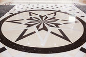 Star marble pavement — Foto Stock