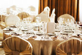 Table set for a special occasion — Stockfoto