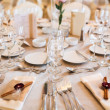 Table arrangement for celebration — Stockfoto