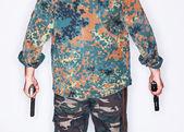 Dangerous armed killer — Stock Photo