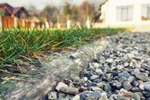 Grass separated from aggregate — Стоковое фото