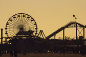 Pacific Park silhouette at sunset — Stock Photo