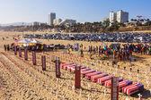 Memorial Day at Santa Monica beach — Stock Photo