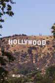 Hollywood sign in Mount Lee, Los Angeles — Stok fotoğraf