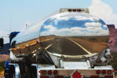 Fuel truck on the road — Stock Photo