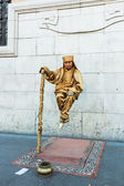 Levitation street performer — Stock Photo