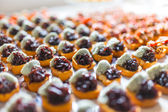 Appetizing various canapes — Stock Photo