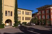 School's main entrance — Stock Photo
