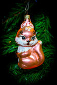 Christmas tree Christmas toy squirrel — Foto de Stock
