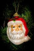 Christmas tree Christmas toy santa Claus — Stock Photo