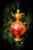 Christmas tree Christmas toy samovar — Stock Photo