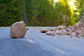 Landslide Blocked Road — Stock Photo