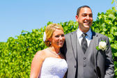 Bride and Groom Portraits — Stock Photo
