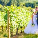 Bride and Groom Wedding Kiss — Stock Photo #37070489