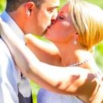 Bride and Groom Wedding Kiss — Stock Photo #37071325