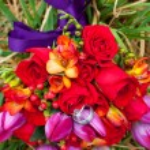Wedding Rings on Flowers — Stock Photo