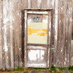 Wood Texture and a Door — Stock Photo