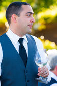 Groom During Toasts — Stock Photo
