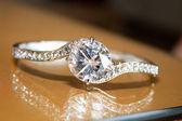 Diamond Wedding Ring — Stock Photo