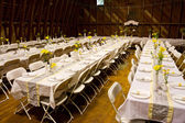 Reception Dinner Tables — Stock Photo
