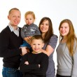 Stock Photo: Family of Five Isolated