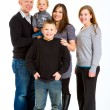 Family of Five Isolated — Stockfoto #37085361