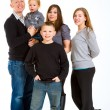 Family of Five Isolated — Stockfoto #37085369