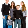 Family of Five Isolated — Stockfoto #37085443