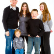 Stok fotoğraf: Family of Five Isolated