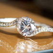 Stock Photo: Diamond Wedding Ring