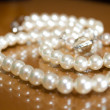 Stock Photo: Pearl Wedding Necklace