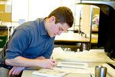 Üniversite öğrencisi hazırlanması mimarisi — Stok fotoğraf