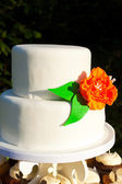 Simple White Wedding Cake — Stock Photo