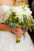 Bride and Bouquet Flowers — Stock Photo