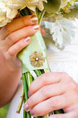 Wedding Bouquet and Brooch — Foto de Stock