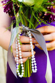 Bridesmaid and Bouquet — Stock Photo