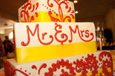 Mr & Mrs Wedding Cake — 图库照片