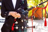 Scottish Bagpipe Player — Stock Photo