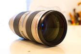 White Telephoto Lens — Stock Photo
