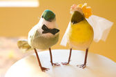 Two Birds Cake — Stock Photo