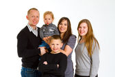 Family of Five Isolated — Foto Stock