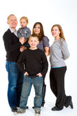 Family of Five Isolated — Stockfoto