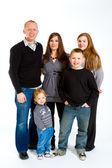 Família de cinco isolados — Foto Stock