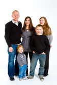 Family of Five Isolated — Stock Photo