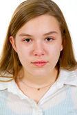 Mädchen-studio-portrait — Stockfoto