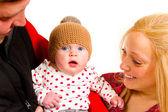 Newborn Baby Studio Shot — Stock Photo