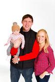 Newborn Baby and Family — Stock Photo
