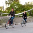 Couple with Bicycles — Stock Photo