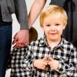 Child with Parents in Studio — Stock Photo #37095997