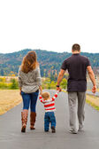 Family Walking Away — Stock Photo
